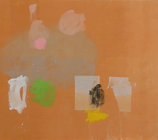 "Phil Darrah,""Sugar Mist,"" 2015,Acrylic and paper on canvas, 63 ¾"" x 76 ¾"