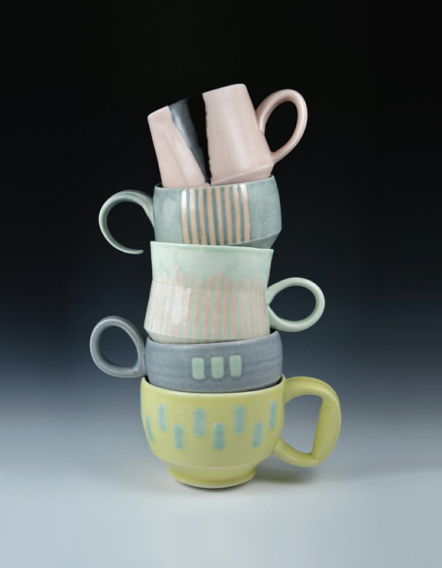 Stacked Mugs by Mynthia McDaniel