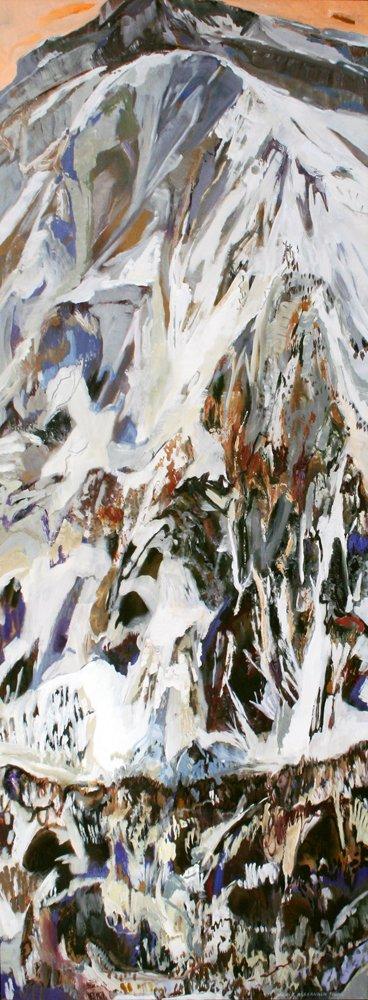 "alexander, ""KickingHorseBackside,"" 96x24, 2015"
