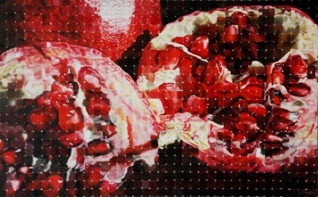 "Robert Lemay, ""pomegranates,"" 30x48"