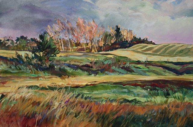 "Laycock, ""Prairie Waves,"" 32x48, 2011"