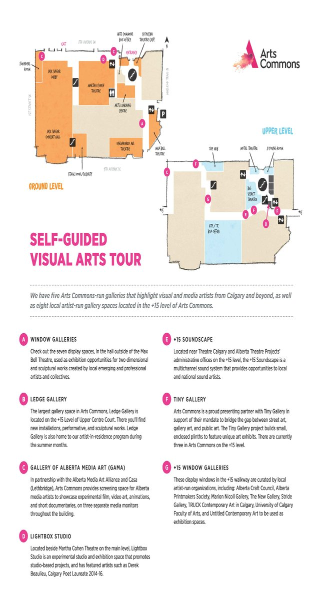 Arts Commons Visual Arts Tour map