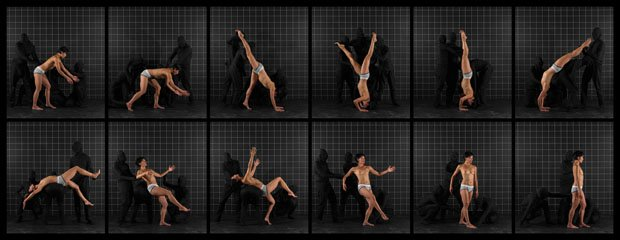 "Adad Hannah, ""After Muybridge: Front Handspring,"" 2016"