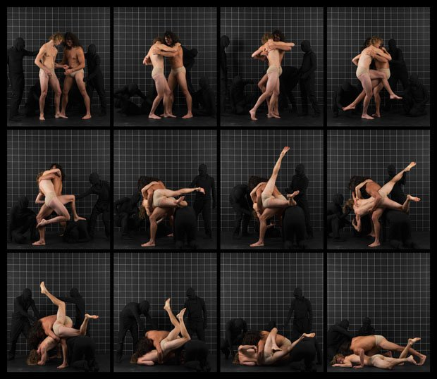 "Adad Hannah, ""After Muybridge: Wrestlers 1,"" 2016"