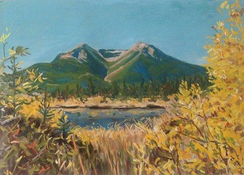 """Marla Schole, """"Twin Peaks – Vermilion Lakes - Banff"""""""