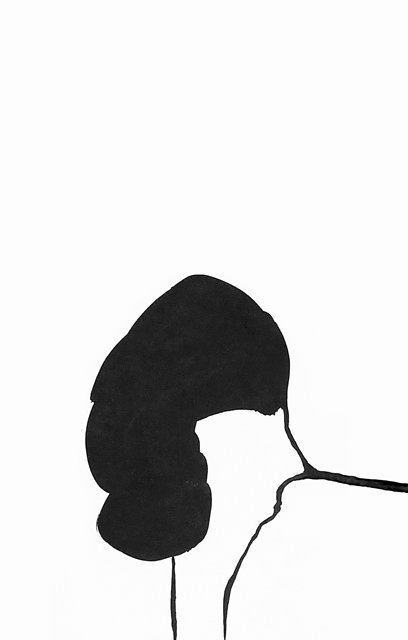 """Lyse Lemieux, """"Sketch for Wall Drawing 15 (TDL 88),"""" 2016, black ink drawing."""