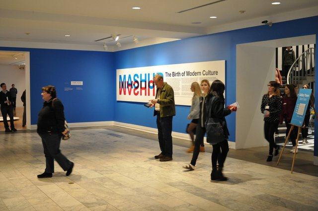 Entrance to MashUp exhibition at the Vancouver Art Gallery