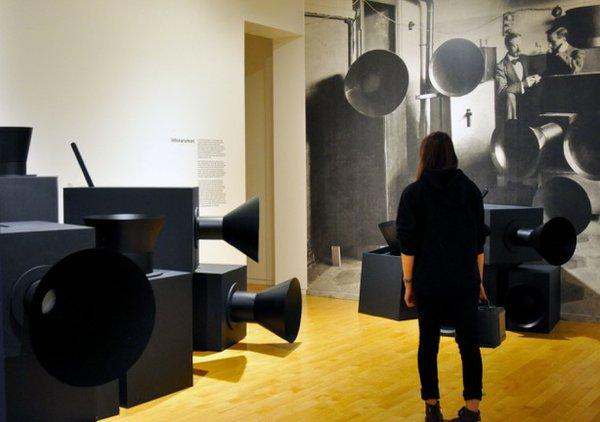 """MashUp"" installation view - Luigi Russolo ""intonarumori"""