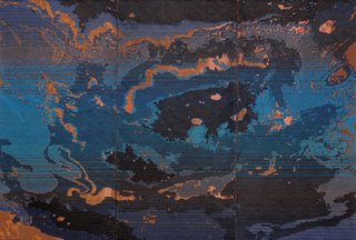"""Ruth Beer, """"Oil Topography,"""" 2014"""
