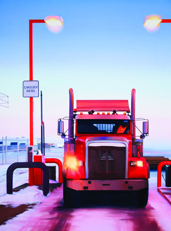 """Greg Pyra, """"The Great Truckers,"""" 2014"""