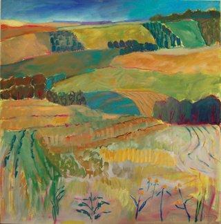 """Lynn Malin, """"Vista Near Pine Lake,"""" 2014"""