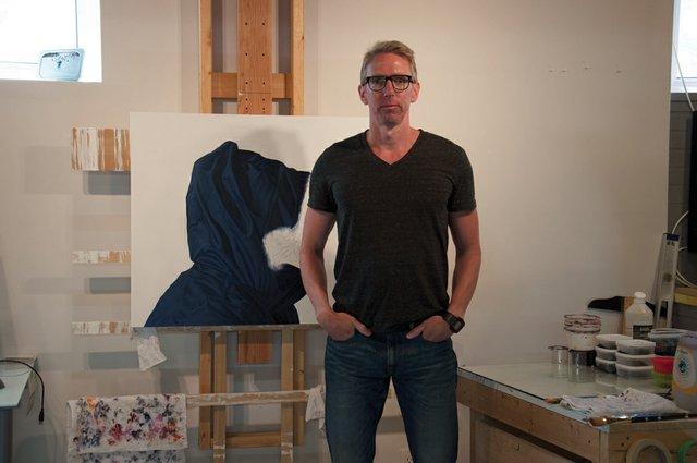 Karel Funk in his studio