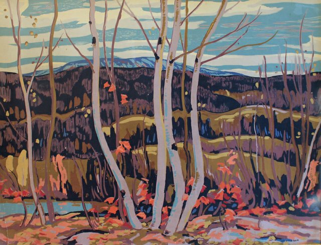 "Alexander Y. Jackson (Canadian 1882-1974), ""Birch and Maple"""
