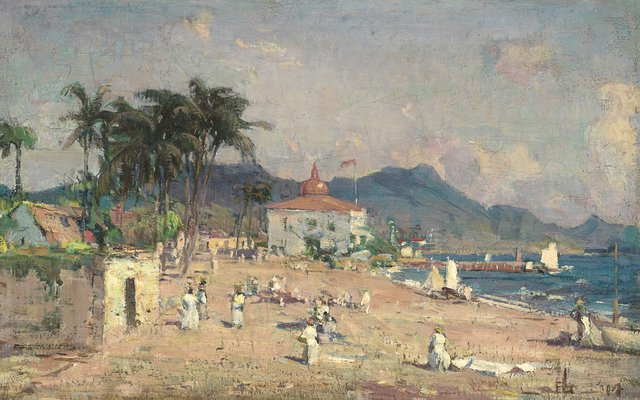 """Franklin Brownell Peleg (Canadian 1857-1946), """"St. Kitts, British West Indies"""""""