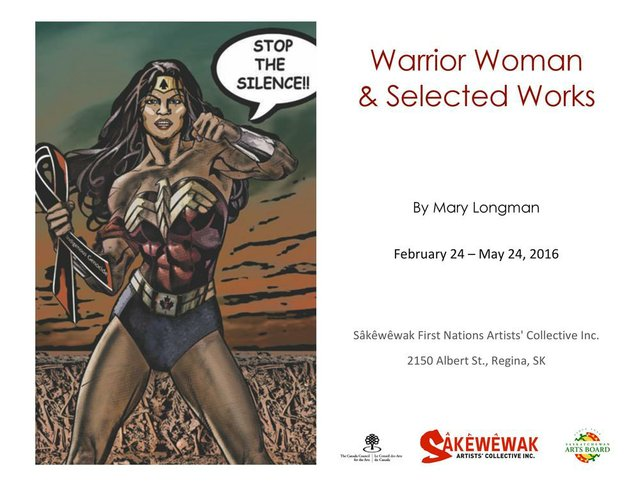 Mary Longman_Warrior Woman invitation