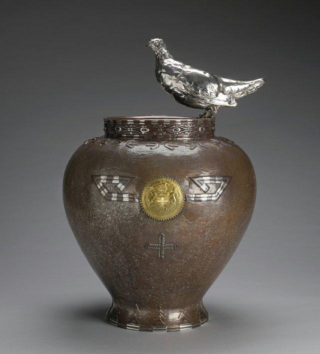 """George Paulding Farnham """"Ptarmigan Vase,"""" c. 1900-1903"""