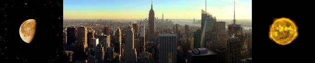 "Dan Hudson, ""Sun, Earth, Moon, NYC"""