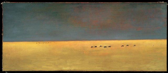 """Jean Jean Paul Lemieux, """"The Far West,"""" 1955"""