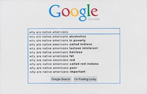 "Jordan Bennett, ""Why Are Native Americans,"" (2012)"