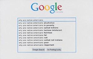 "Jordan Bennett, ""Why Are Native Americans,"" (2012)"