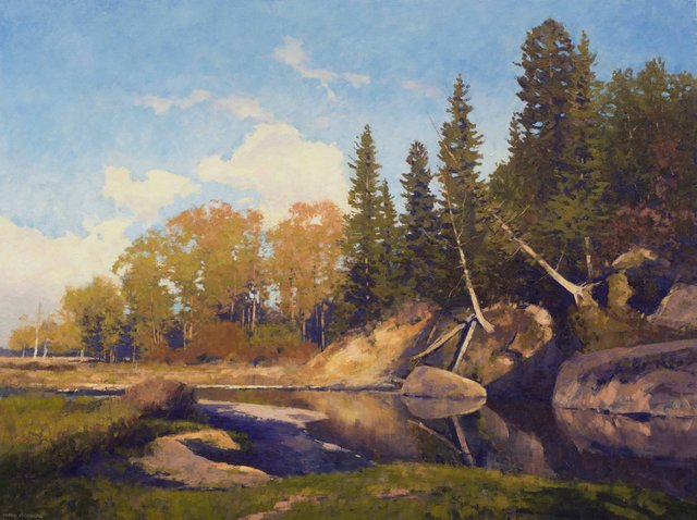 "Chris Flodberg, ""Boulder Creek, Late Afternoon,"" 2015"