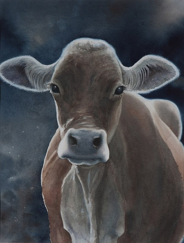"Sandy McClimans, ""Young Heifer,"" 1985"