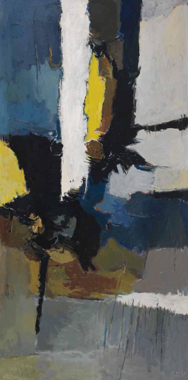 "Gordon Appelbe Smith, ""Vertical Painting (Rock Face),"" 1950 ~ 1951"
