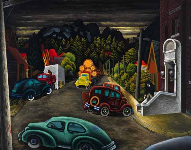 "Edward John (E.J.) Hughes, ""The Post Office at Courtenay, BC,"" 1949"