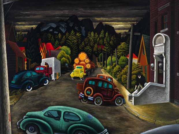 "Edward John (E.J.) Hughes, ""The Post Office at Courtenay, BC,"" 1949"