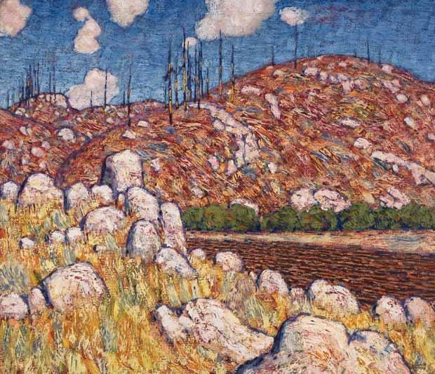 """Lawren Stewart Harris, """"Laurentian Landscape,"""" 1913 ~ 1914"""