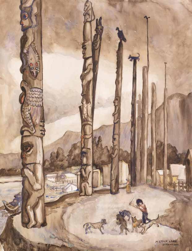 """Emily Carr, """"Gitwangak,"""" circa 1927"""