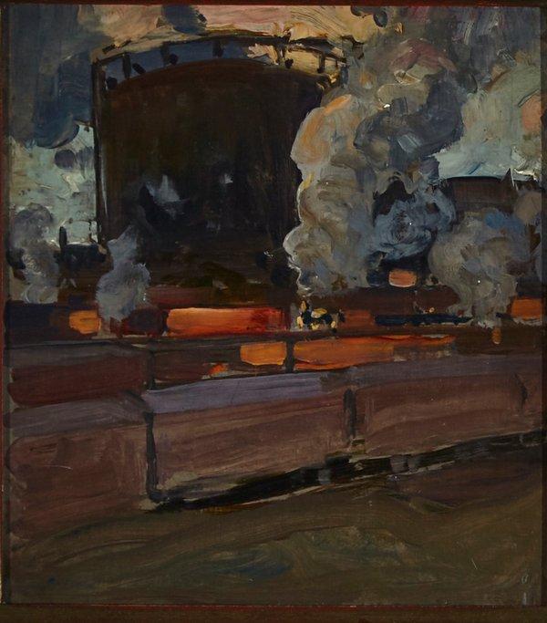 """James Edward Hervey MacDonald, """"Freight Yard, Toronto"""""""