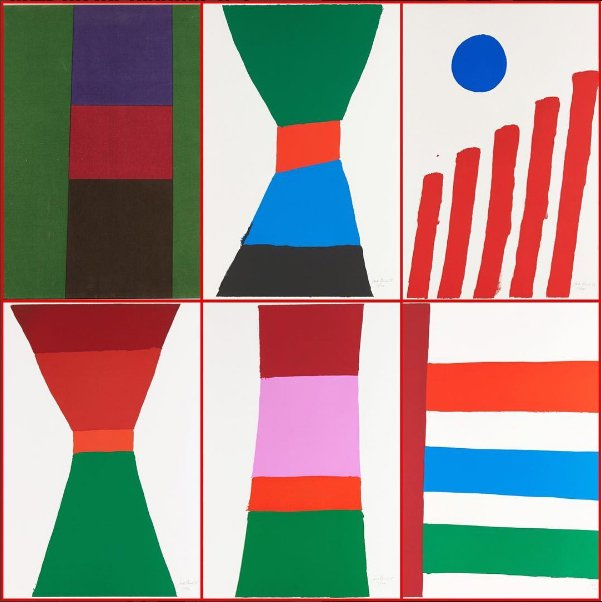 """Jack Hamilton Bush, """"Five Colour Prints (1965 Portfolio)"""""""