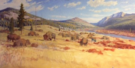 "Dwayne Harty, ""Autumn Bison, Panther River Valley"""