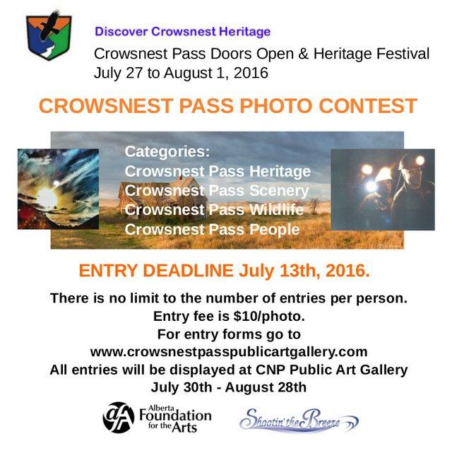 Crowsnest Pass photo contest