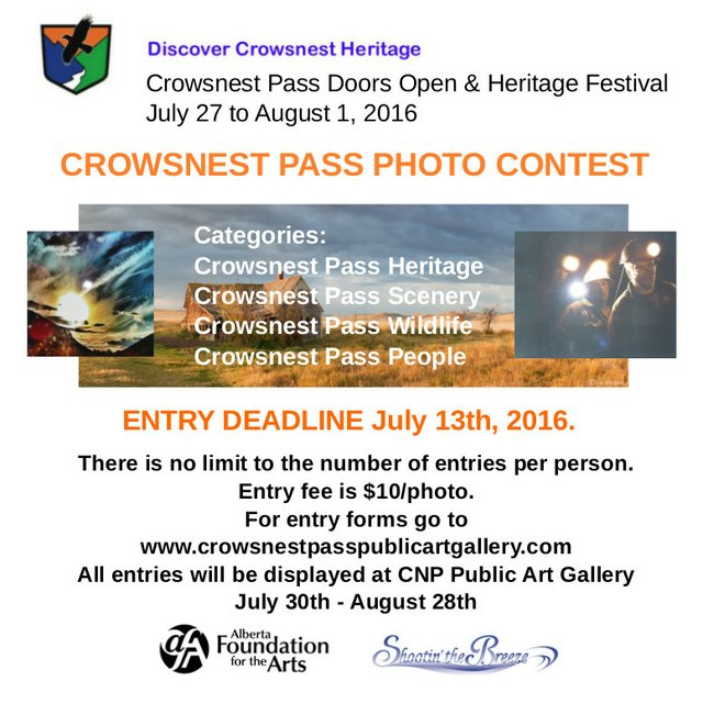 Crowsnest Pass photo contest