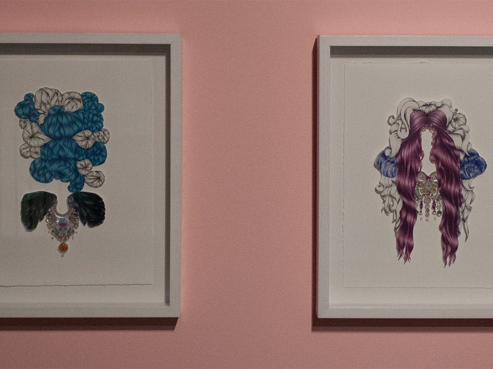 "Rachel Ludlow, ""Paper Doll #1 and Paper Doll #3,"" 2013"