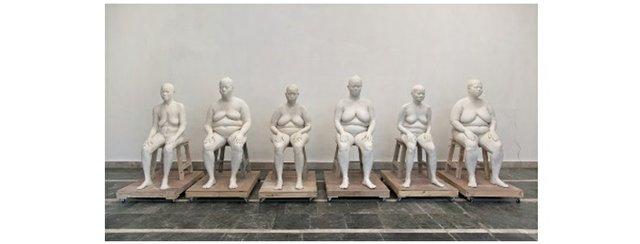 """Bharti Kher, """"Six Women,"""" 2013–15"""