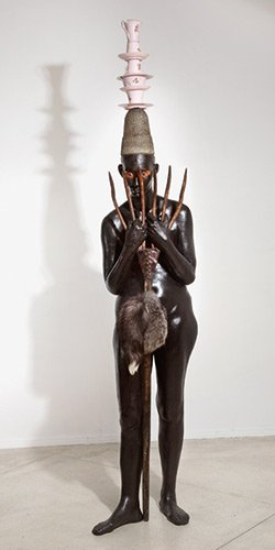 """Bharti Kher, """"Lady with an ermine,"""" 2012"""