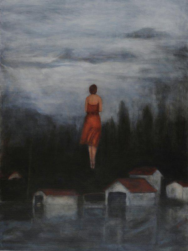 "Linda Craddock, ""Levitas: Evening. Bow River Boathouse,"" 2016"