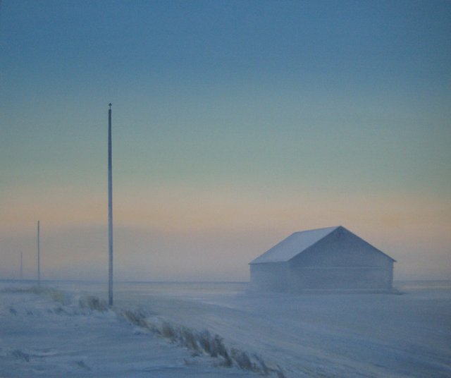 "Greg Pyra, ""Mist at Dawn,"" oil, 2012"