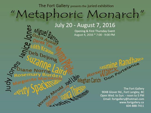 Metaphoric Monarch Show invite