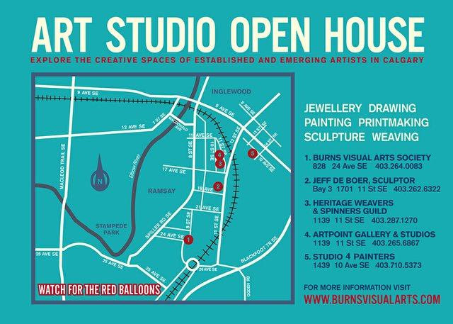 Burns Visual Arts Studio Crawl 2016 MAP