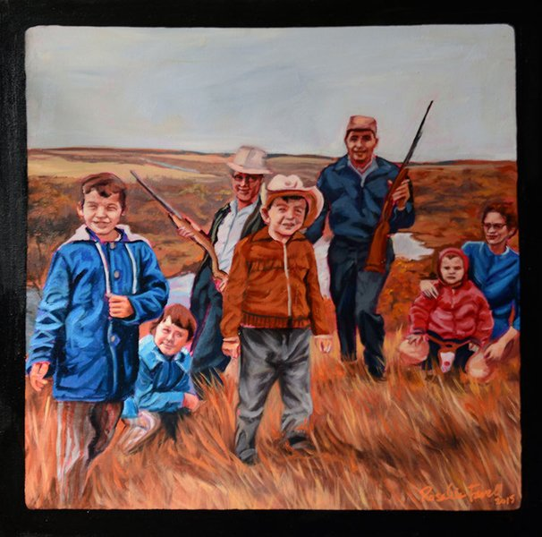 """Rosalie Favell, """"The Hunting Party,"""" 2015"""
