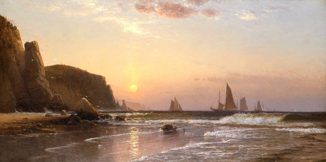 """Alfred Thompson Bricher, """"Morning at Grand Manan,"""" 1878"""