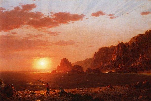 "Frederic Edwin Church, ""Grand Manan Island, Bay of Fundy"""