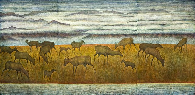 "Judith Currelly, ""Calving Grounds"""