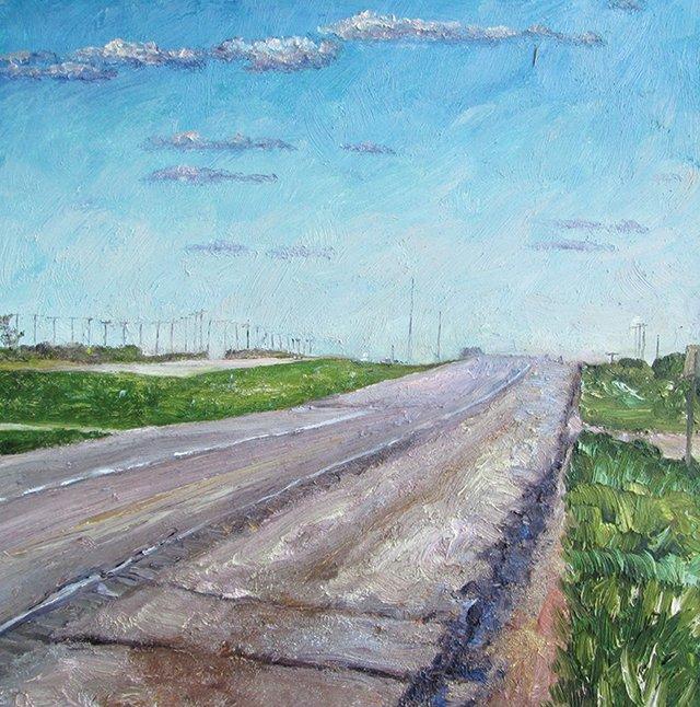 "Nicole Bauberger, ""18 km before Emerald Park"""