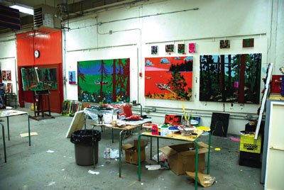 """Painting Studio at Emma Lake."""