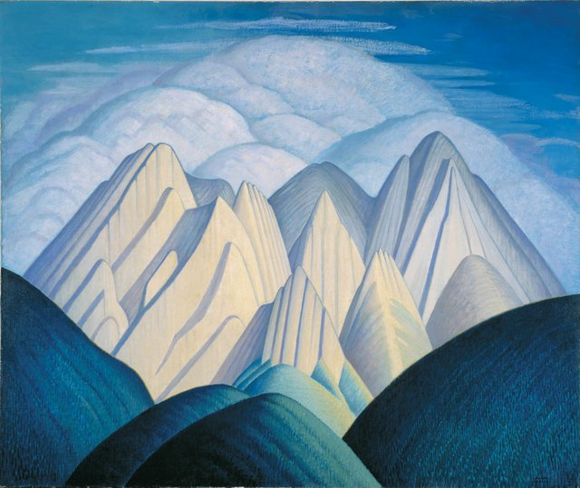 Lawren S. Harris, Untitled (Mountains Near Jasper), circa 1934-1940